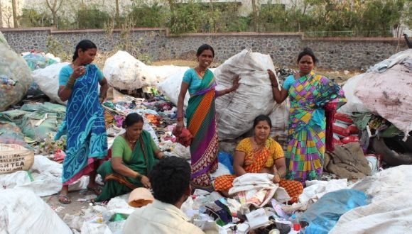 Waste pickers in India