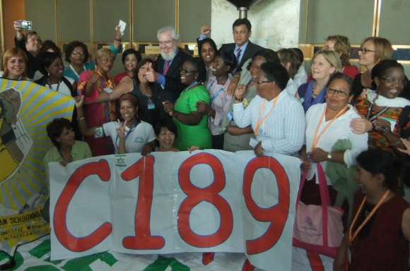 Domestic workers celebrate C189