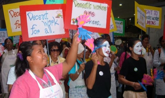 Thailand domestic workers protest
