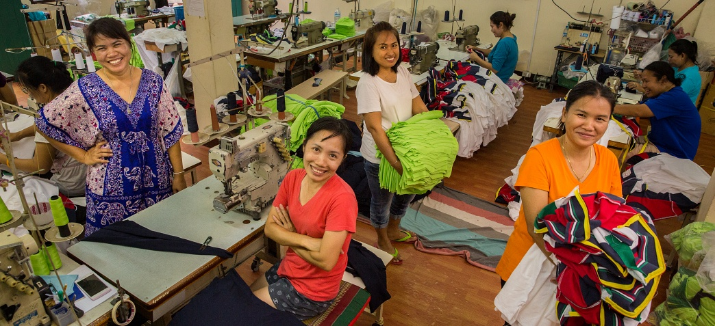 Garment workers in Thailand. Photo by Paula Bronstein/Getty Images Reportage