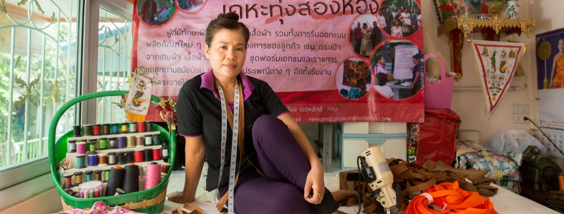 Home-based worker Neeramol Sutipannapong in Thailand (credit Paula Bonstein, Getty Images Reportage