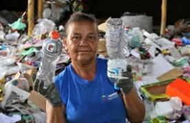 Waste picker who is a member of COMARP in Brazil