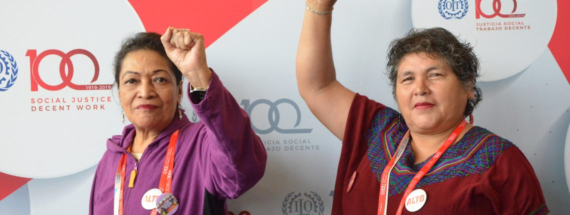 Domestic workers at the International Labour Conference in Geneva