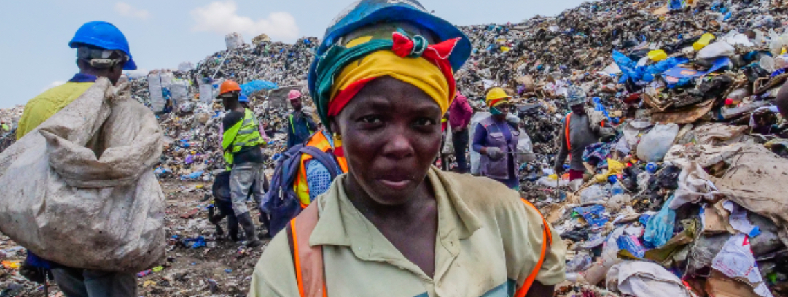 Waste picker in Accra