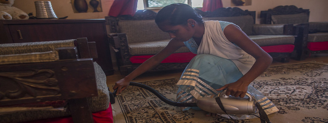 Domestic worker in Ranchi, India
