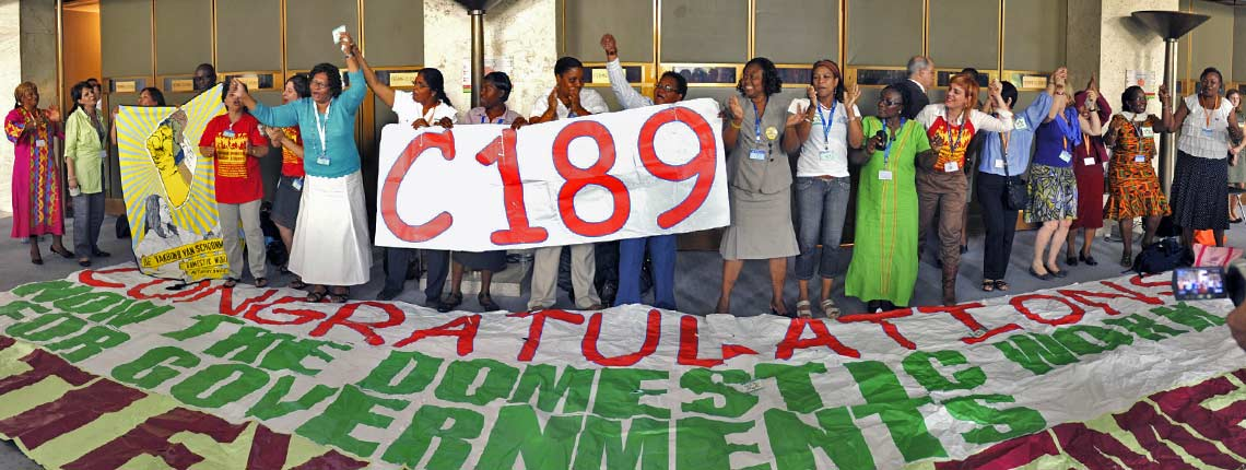 Celebrating Ratification by Countries of Domestic Workers' Convention (C189)
