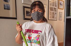 Trabajadora del hogar en Lima, Perú