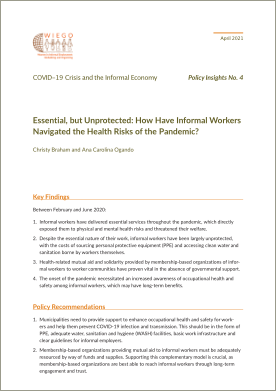 The Triple Crisis: Impact of COVID-19 on Informal Workers' Care Responsibilities, Paid Work and Earnings thumbnail