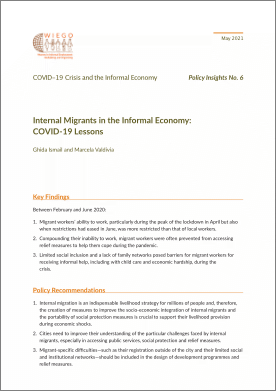 Policy Insights No. 6 - Internal Migrants in the Informal Economy: COVID-19 Lessons thumbnail