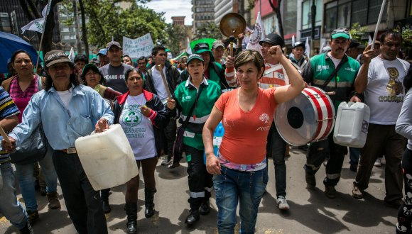 ARB Waste Picker Protest in Bogota, Colombia