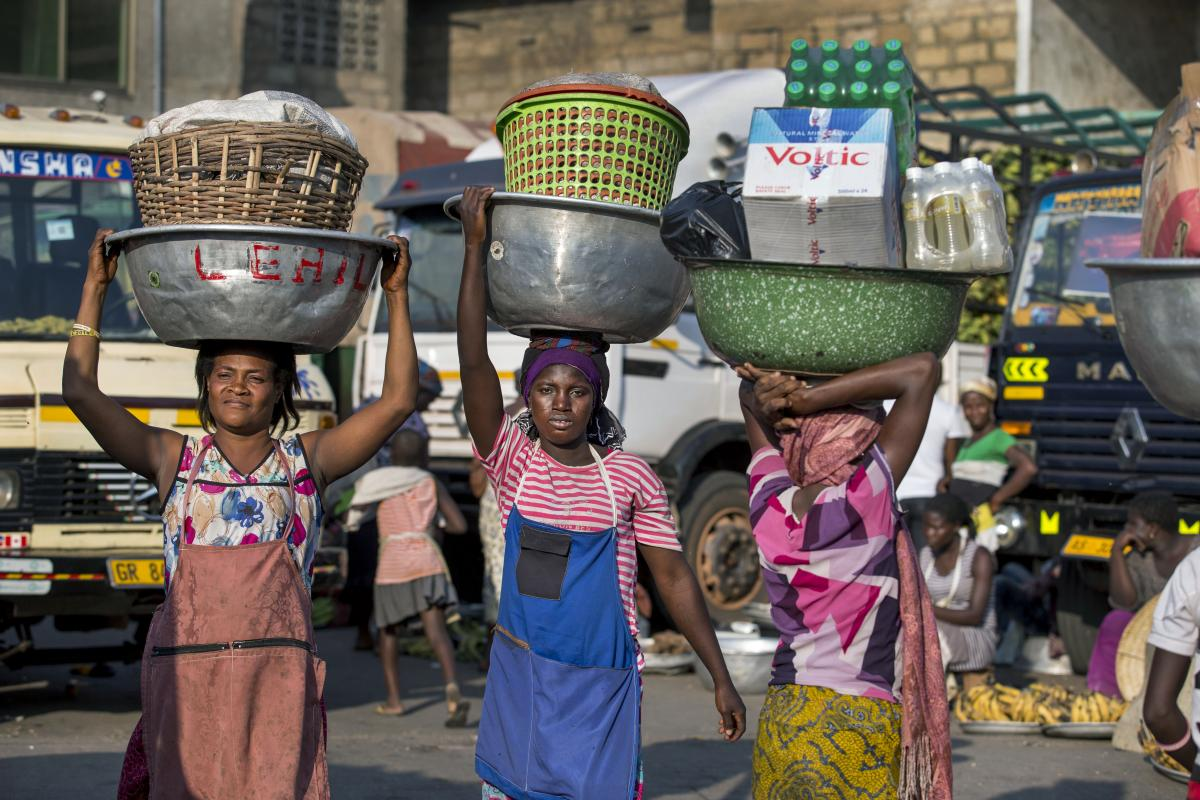 Market carrier in Accra