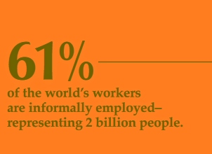 61% of world's workers are informal