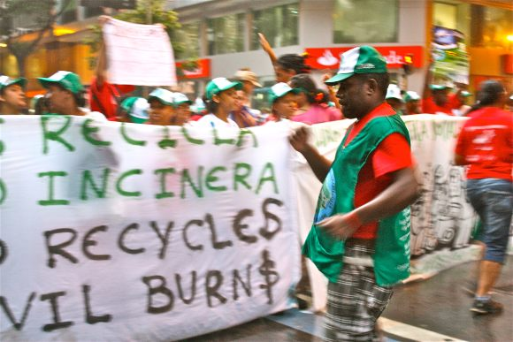 Waste pickers protest in Brazil