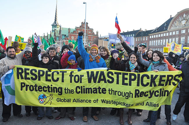 Waste pickers in Copenhagen at Conference on Climate Change