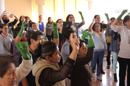 Domestic workers at a workshop in Mexico City