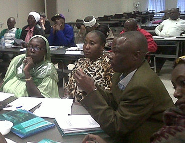 Johannesburg, South Africa: workshop on  formalization for informal workers