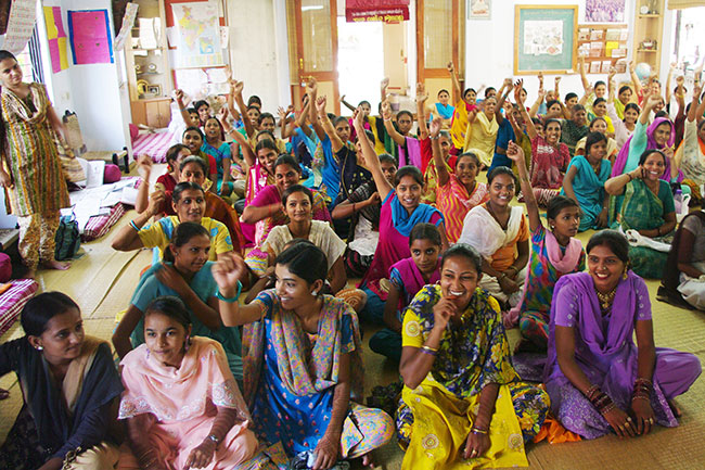 Women from SEWA, at a meeting in Ahmedabad, India
