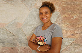 Jennifer Thaís Santos Fernandes, member of the National Movement of Waste Pickers in Brazil