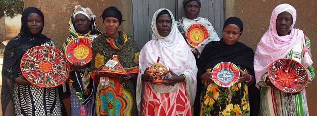 Nubian artisans and woven baskets