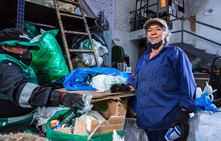 Ana Cecilia Martínez is a waste picker in Bogotá