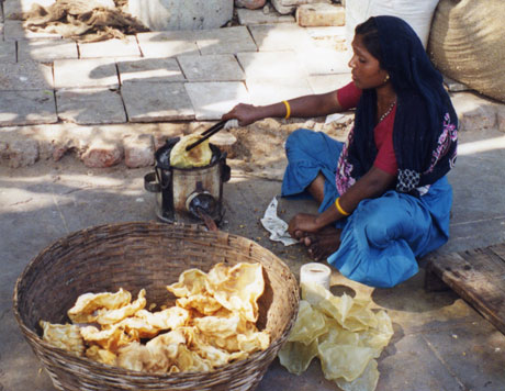street vendor cook in India