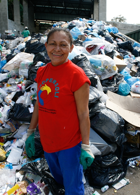 woman waste picker
