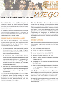 Fact Sheet on Fair Trade and WIEGO