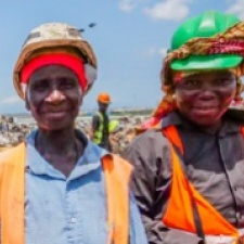 waste pickers in Accra
