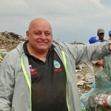 Exequiel Estay shown here working at a landfill