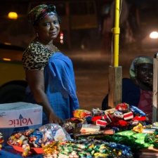 Accra Street Vendor at Night