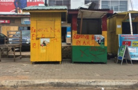 Kiosks marked for removal by the Accra Metropolitan Assembly