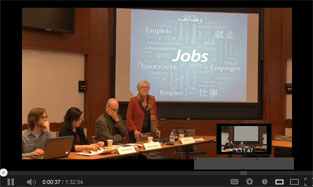 Watch video of panel discussion on World Development Report on Jobs, and informal workers